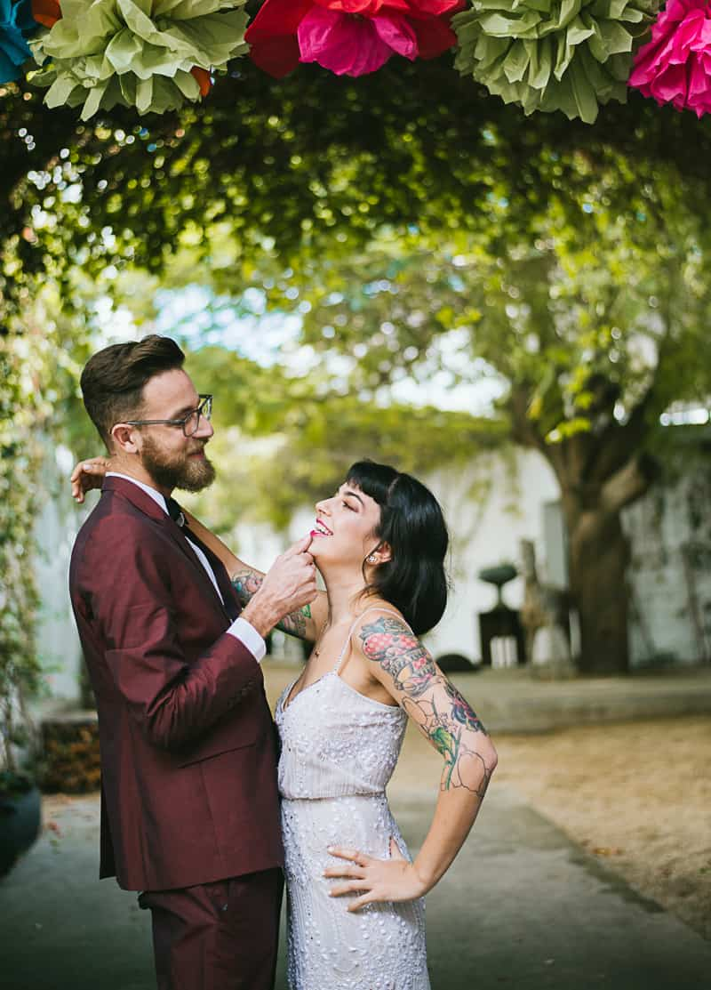 Winter Wedding Inspiration Style with Rockabilly Fashion from Zebra Music and Gold Antler Crowns Shoot-54