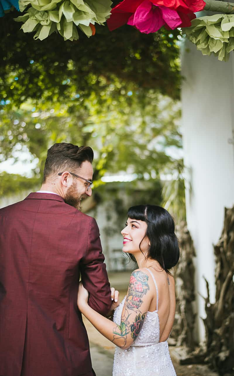 Winter Wedding Inspiration Style with Rockabilly Fashion from Zebra Music and Gold Antler Crowns Shoot-6