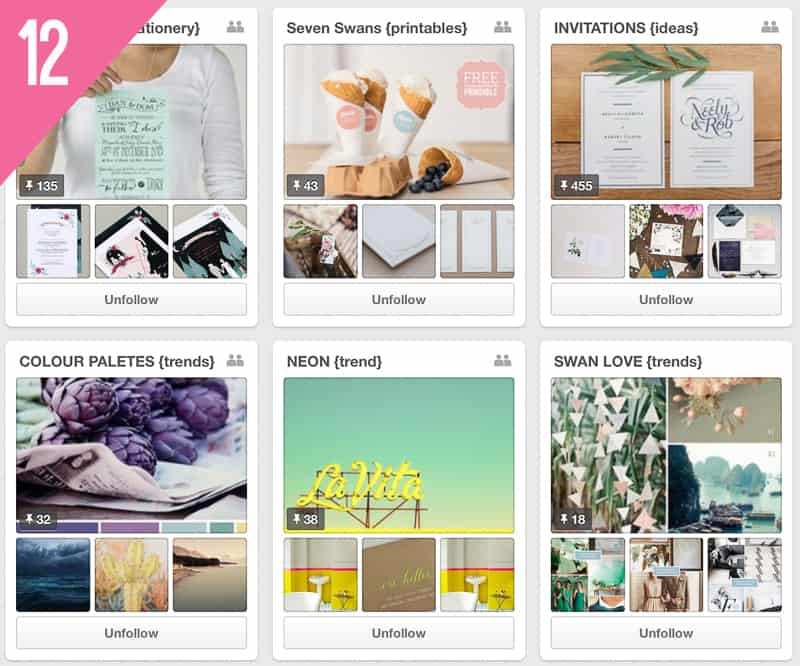 12 Seven Swans Wedding Pinterest Accounts Follow