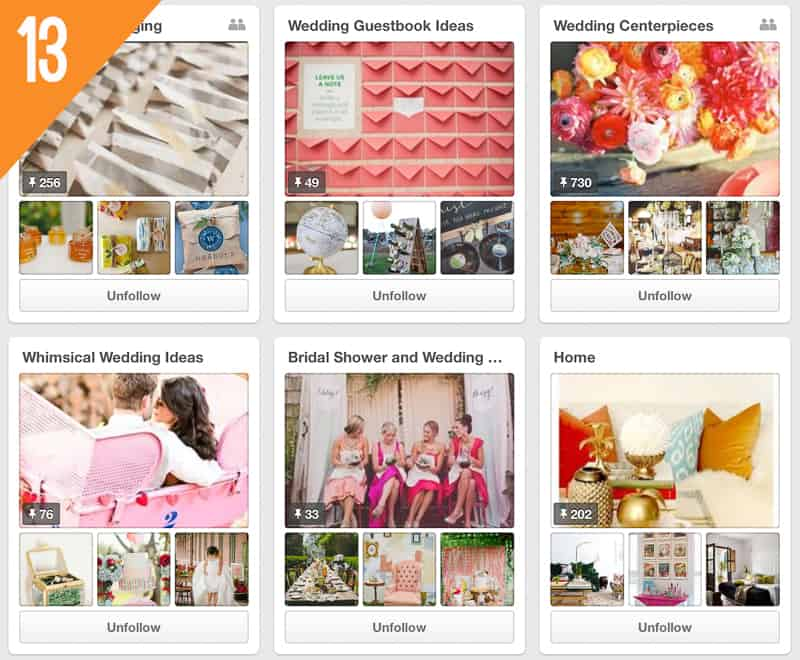 13 Ruffled Wedding Pinterest Accounts to Follow for Inspiration