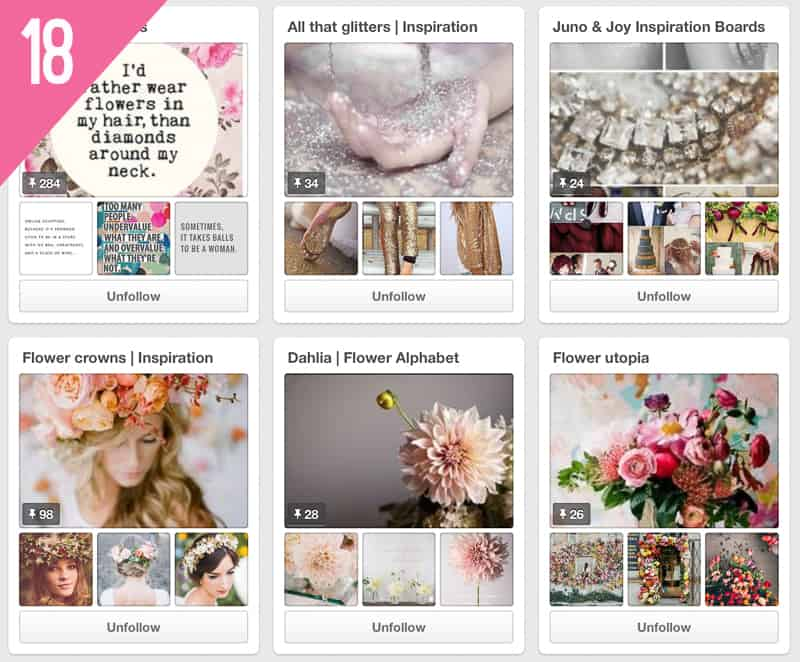 18 Juno & Joy Wedding Pinterest Accounts to Follow for inspiration