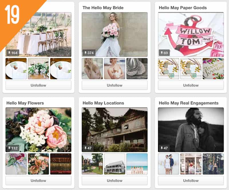 19 Hello May Wedding Pinterest Accounts to Follow Inspiration