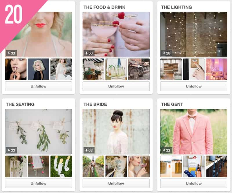 20 London Bride Wedding Pinterest Account to Follow