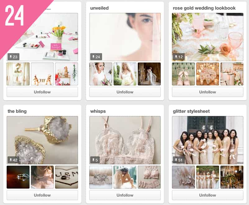 24 Brides up North Wedding Pinterest Accounts to Follow