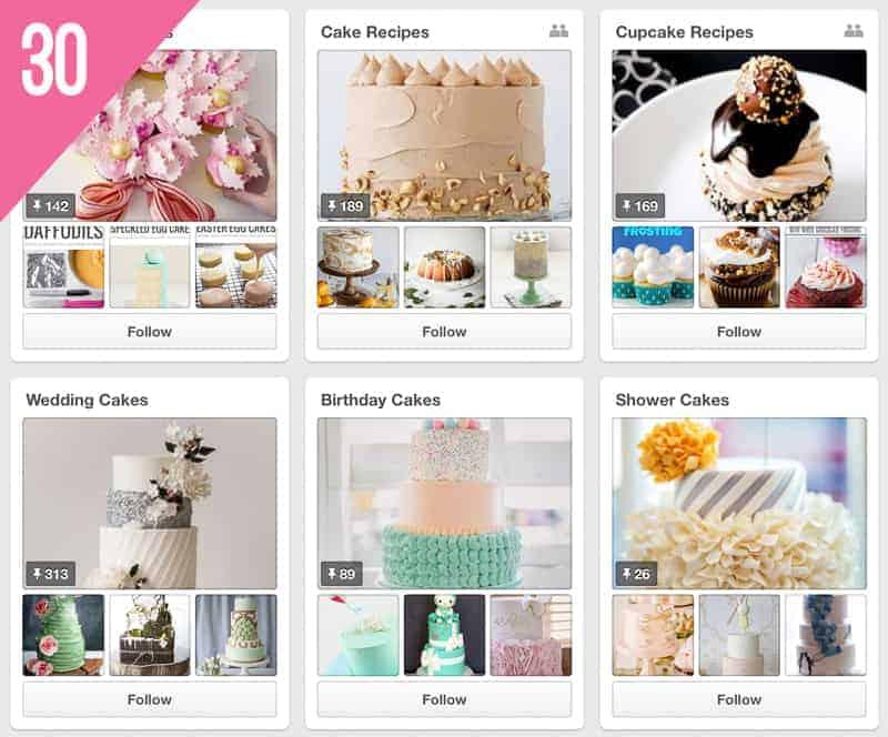 30 The Cake Blog Wedding Pinterest Accounts To Follow