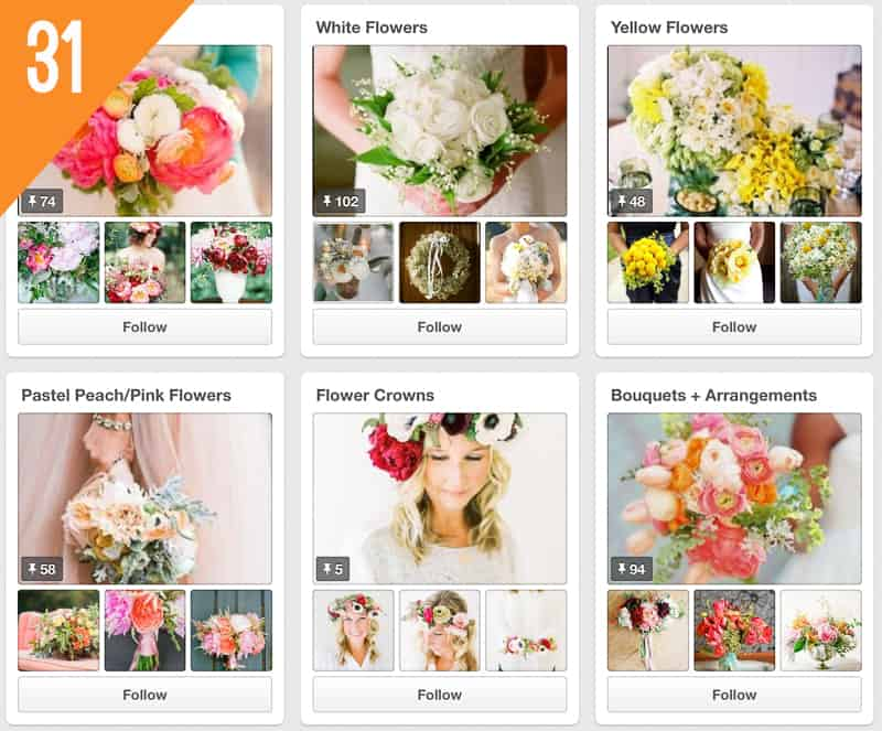 31 The Brides Cafe Wedding Pinterest Accounts To Follow