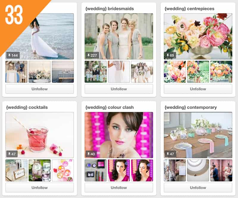 33 B.Loved Weddings Pinterest Accounts to Follow