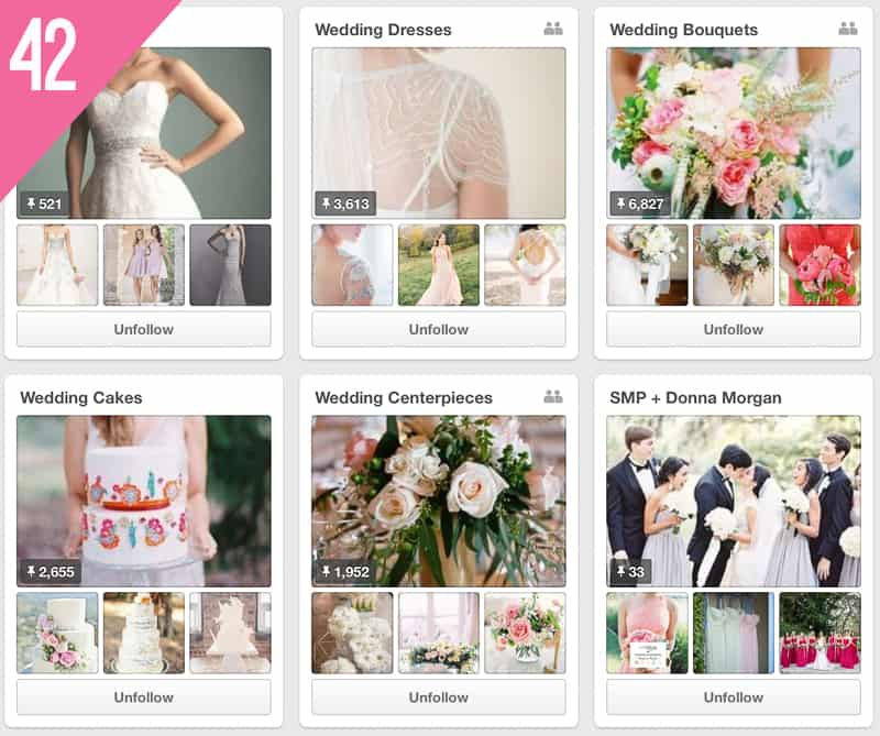 42 Style Me Pretty Wedding Pinterest Accounts to Follow for inspiration