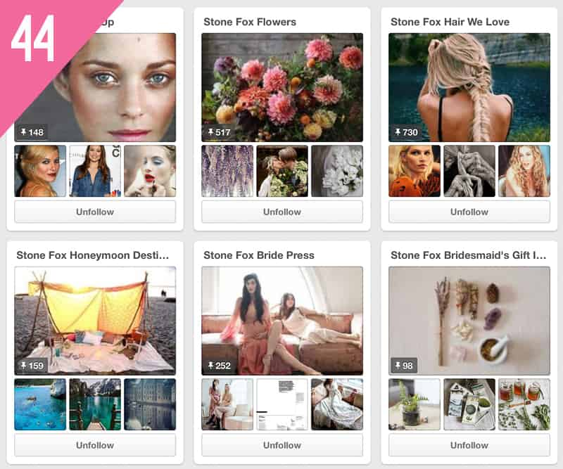 44 Stone Fox Bride Wedding Pinterest Accounts to follow for inspiration