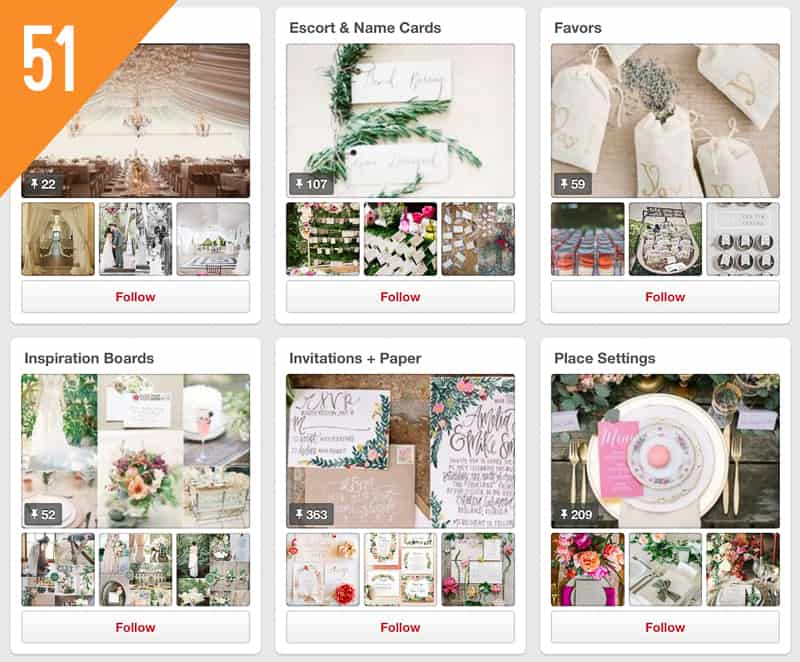 51 Southern California Bride Wedding Pinterest Accounts to Follow for Inspiration