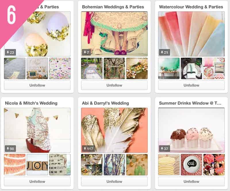 6 Curious Fair Wedding Accounts to Follow on Pinterest