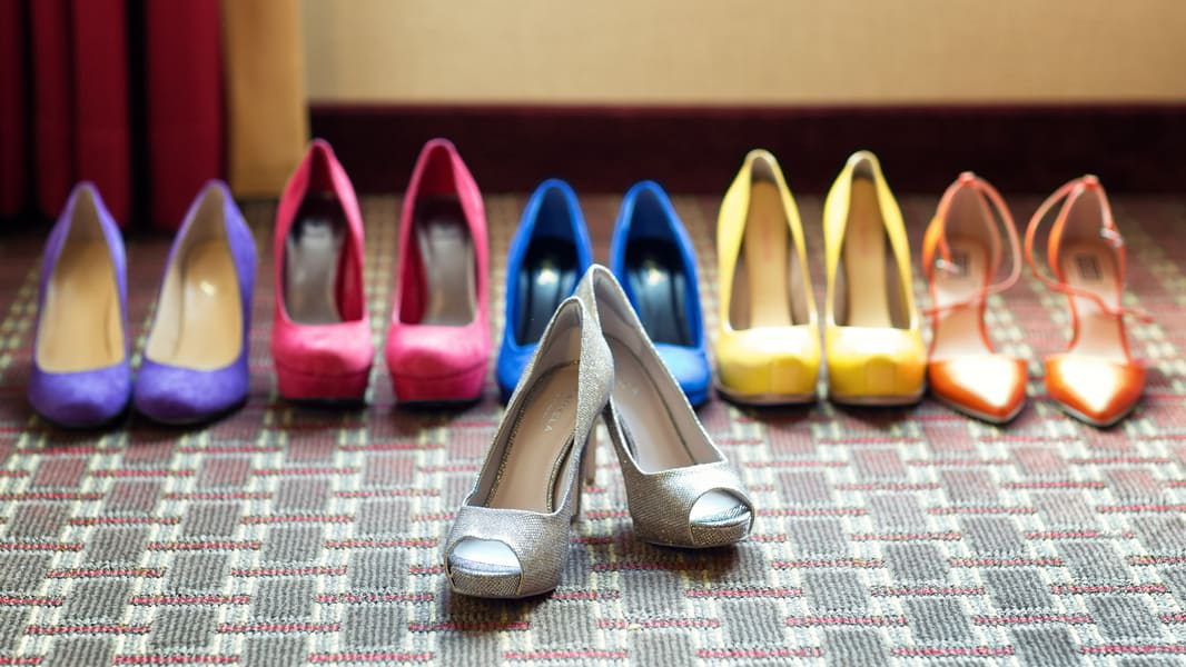 Colourful Bridesmaids Shoes Wedding