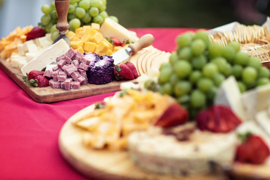 Colourful Cheese and dessert table board