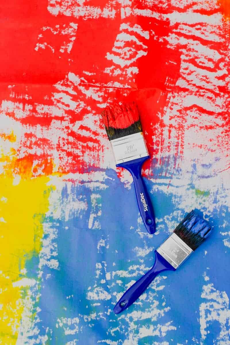 DIY Watercolour Backdrop Bold Painted Altar Paintbrush