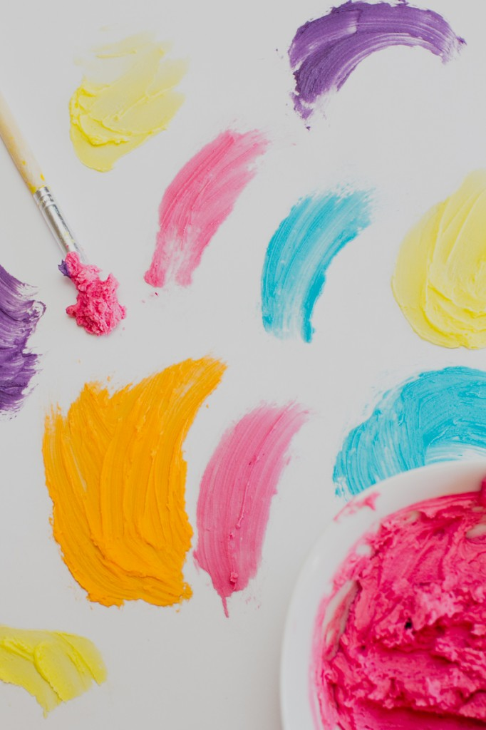 DIY Watercolour Wedding Cake Painted Colourful Buttercream Icing Brush-2