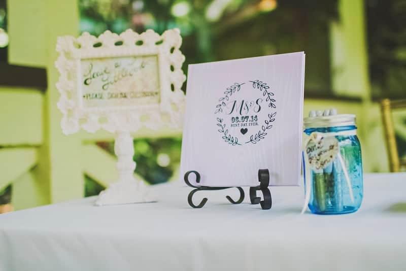 DIY whimsical wedding decor