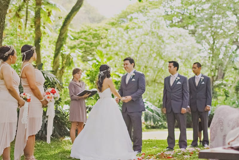 Destination wedding in hawaii whimsical and romantic tree ceremony 2