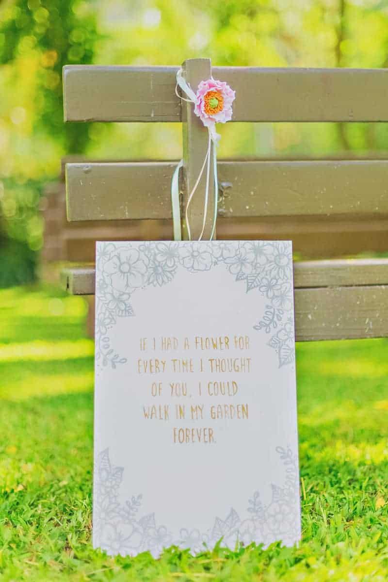 If i had a flower DIY sign wedding decor