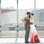 URBAN ROOFTOP WEDDING INSPIRATION WITH AN OMBRE GOWN!