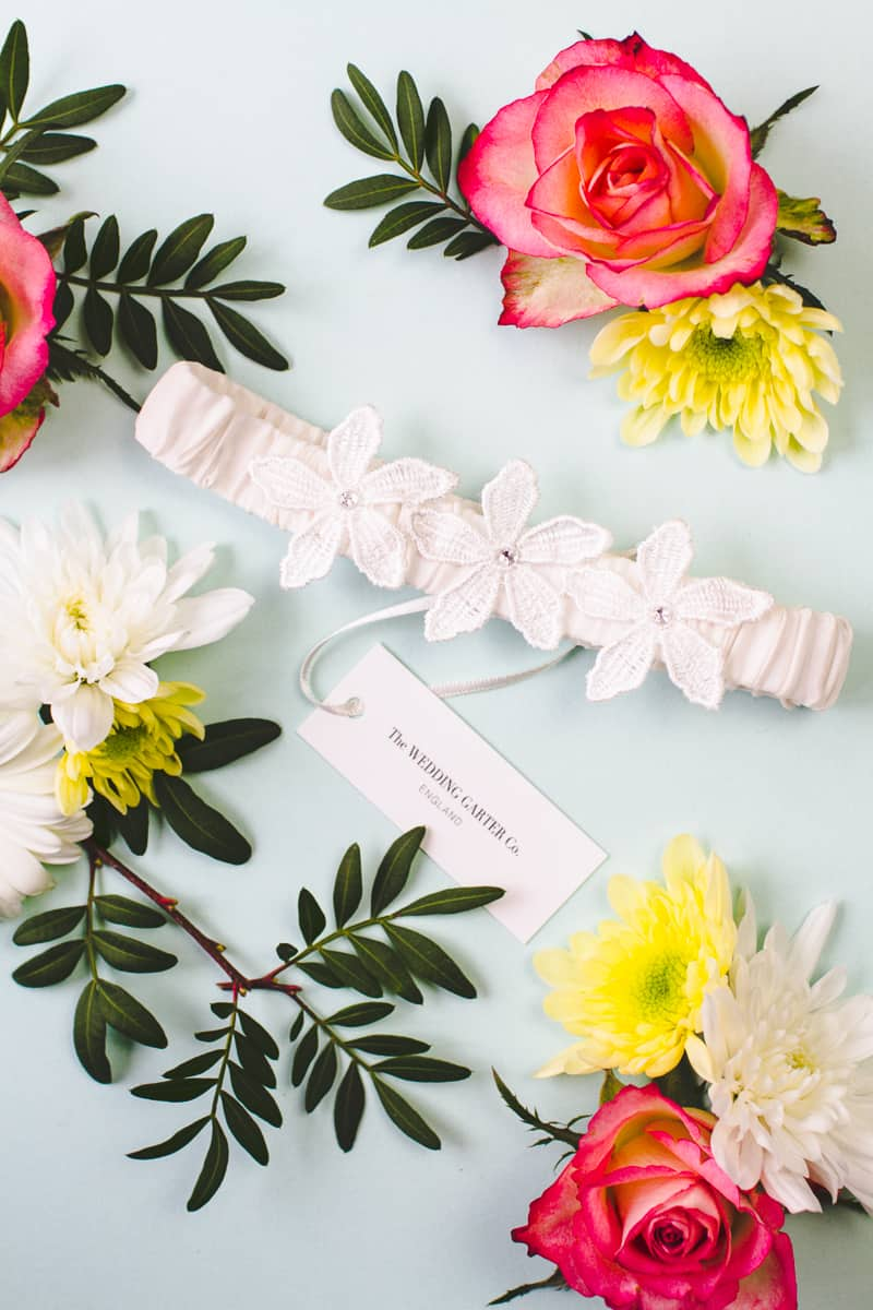 Wedding Garter Co Pretty Flower Unique Garters-3