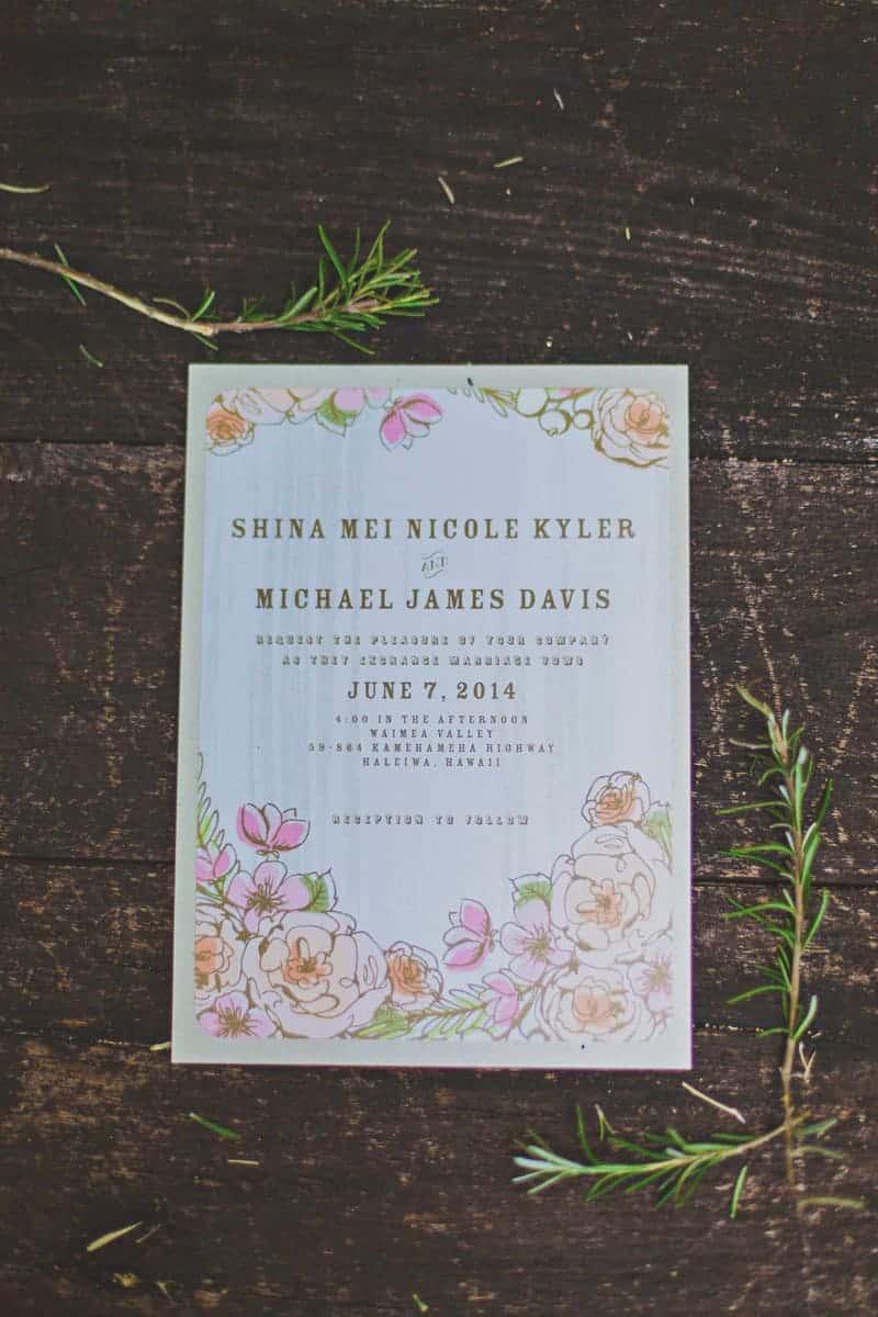 Wedding Paper Divas Stationery Flower Floral Wedding Invitations