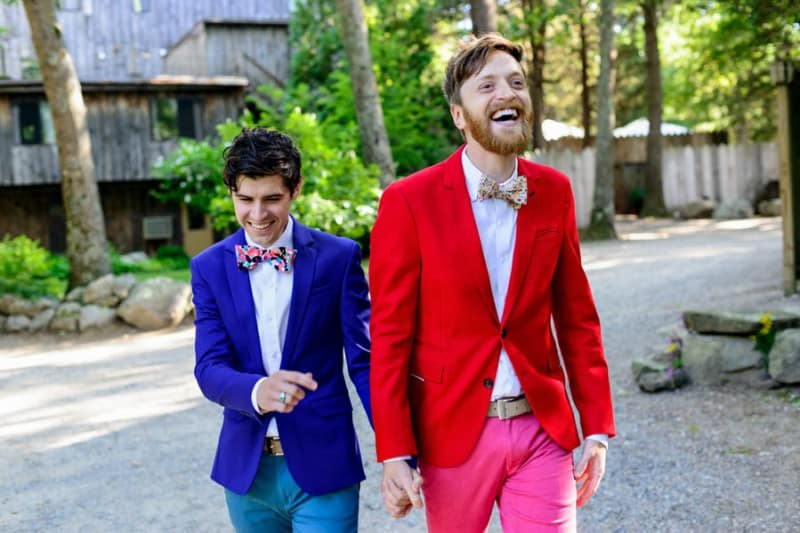 A SAME SEX COLOURFUL HANDMADE WEDDING AT A FOREST RETREAT IN Massachusetts (27)