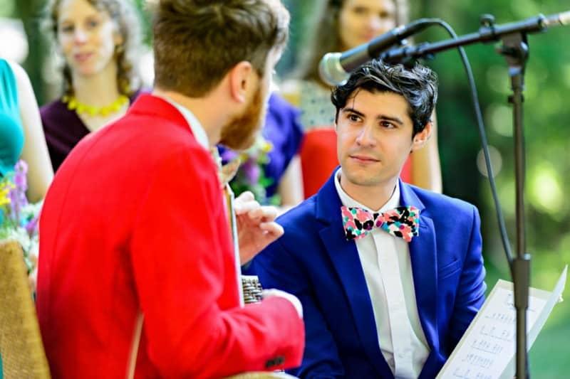 A SAME SEX COLOURFUL HANDMADE WEDDING AT A FOREST RETREAT IN Massachusetts (29)