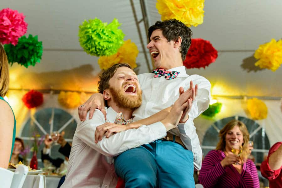 A SAME SEX COLOURFUL HANDMADE WEDDING AT A FOREST RETREAT IN Massachusetts (42)