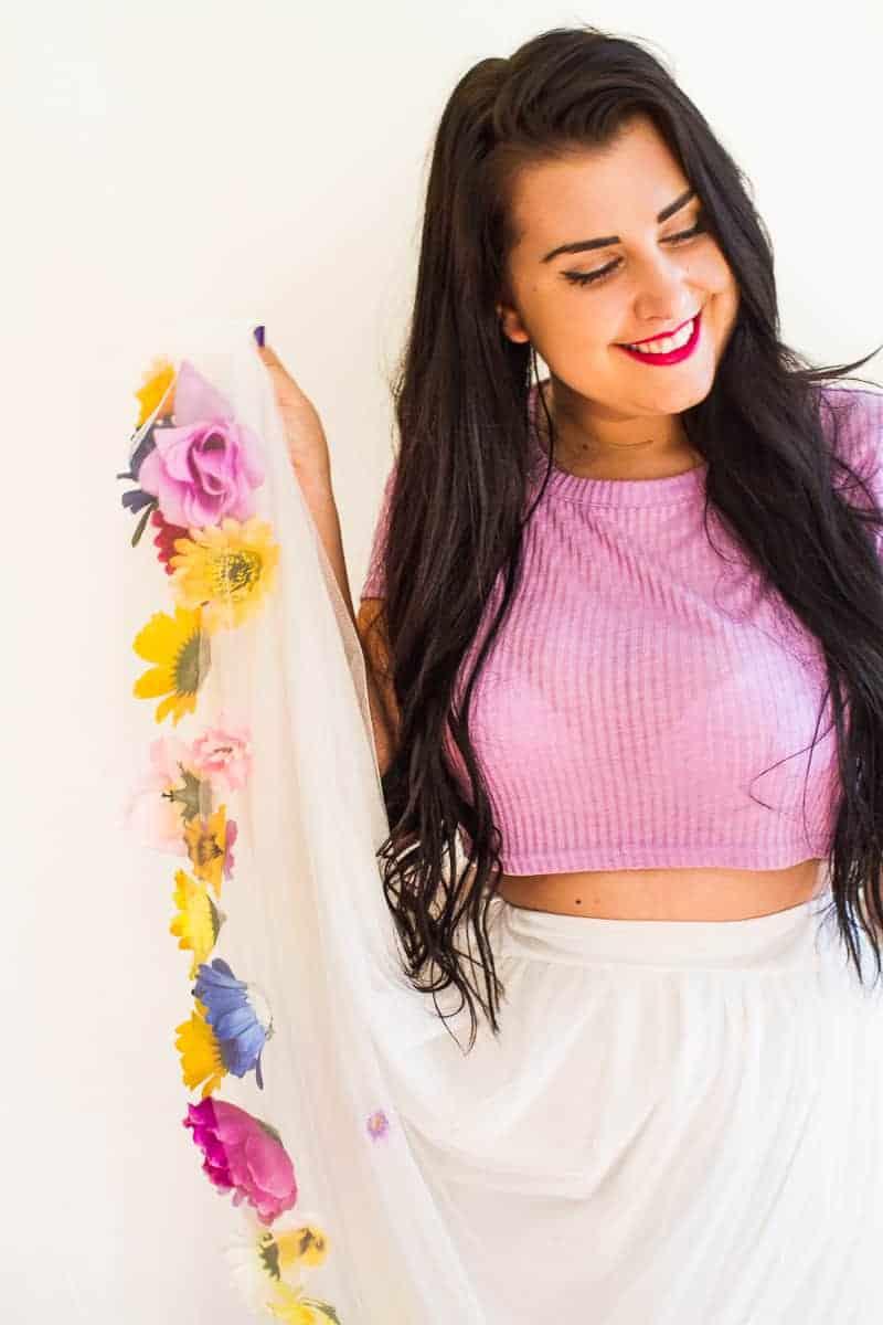 DIY Flower Tulle Skirt Tutorial Spring Summer Fashion Wedding do it yourself-11