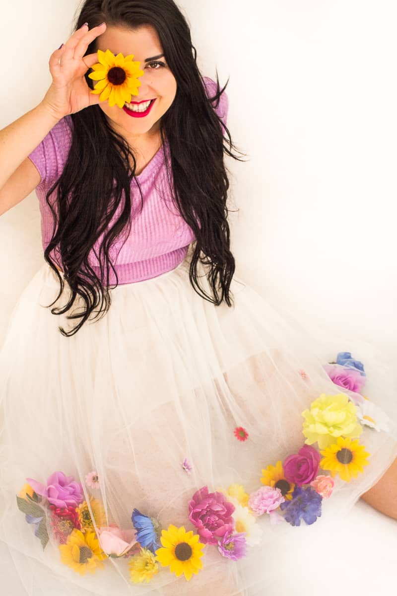Diy Flower Tulle Skirt