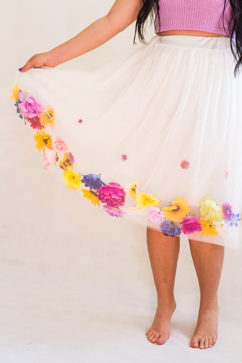 Юбка цветок