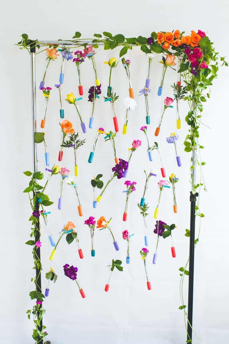 Diy test tube flower rack craftbnb hanging test tube diy reviewsmspy
