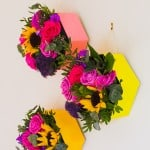 MAKE THESE HEXAGON FLOWER BOXES FOR A POP OF COLOUR ON YOUR WALL!