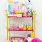 ENTERTAIN YOUR GUESTS WITH THIS DIY BAR CART
