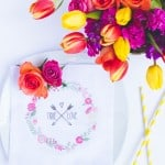 DIY TRUE LOVE FLOWER NAPKINS