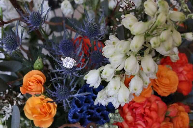 Whimsical Warehouse Wedding Inspiration with Bath tub bride orange navy colour scheme-13