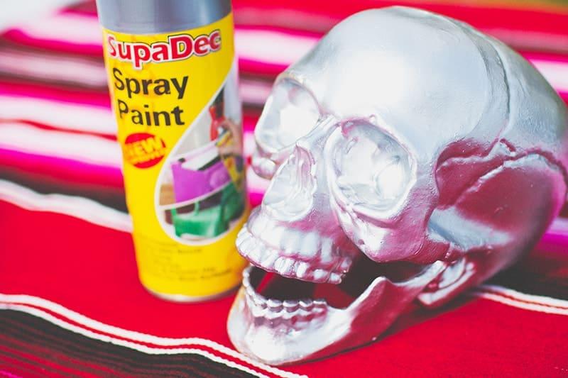 DIY Mosaic Skull Mexican Wedding Inspiration Tutorial Dia de los muertos Step 1