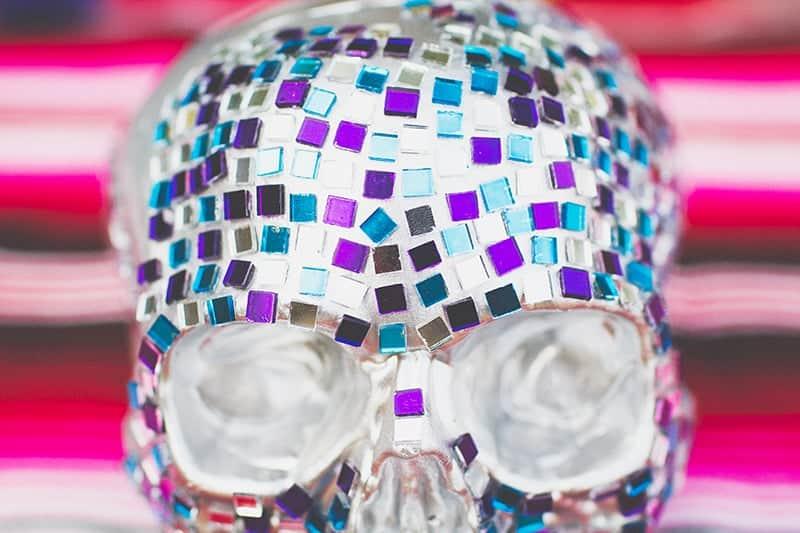 DIY Mosaic Skull Mexican Wedding Inspiration Tutorial Dia de los muertos Step 5