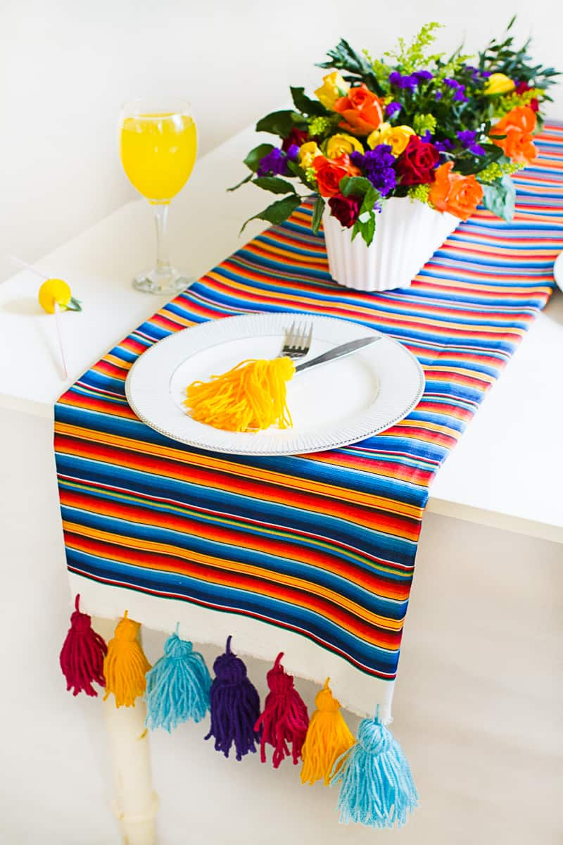 Guest Post Mexican Inspired DIY Table Runner