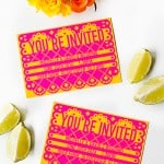 FREE PRINTABLE & EDITABLE PAPEL PICADO WEDDING INVITATION