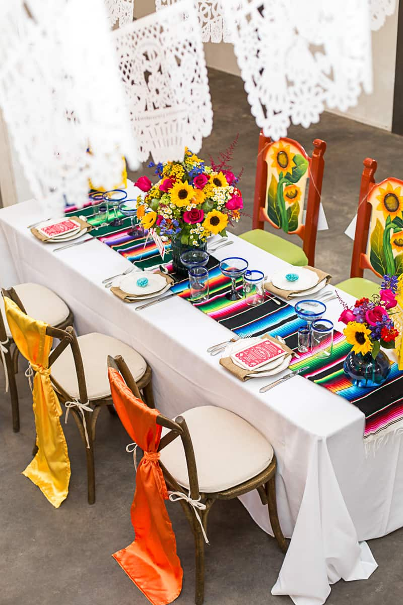 How to style a mexican themed table wedding inspiration 1