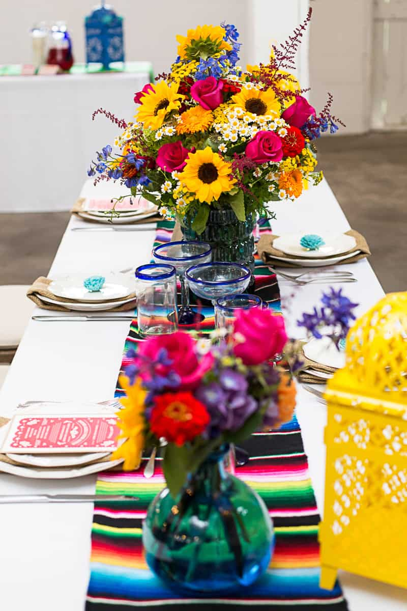 how to style a mexican themed table bespoke bride