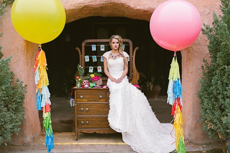 Mexican Fiesta Wedding Inspiration Giant Balloons Cinco De Mayo Dia De Los Muertos_-26