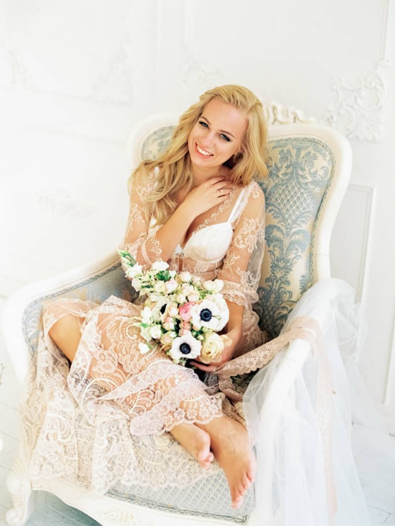Soft Romantic Boudoir Shoot Session Bespoke Bride 19