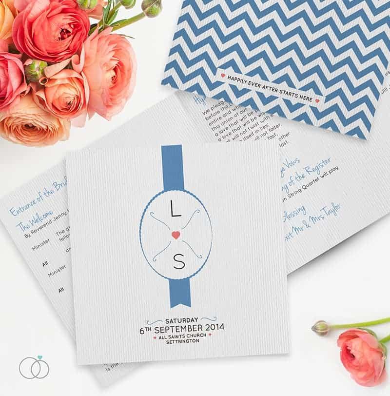 wedding stationery by LOVELI (6) Chevron Chic