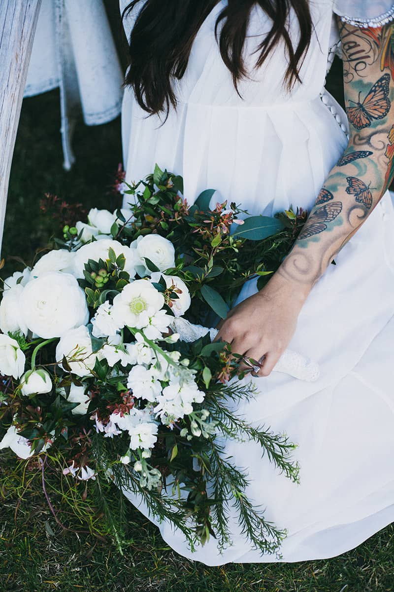 Bohemian Boho Wedding Inspiration Floppy Hat Bride Festival 11