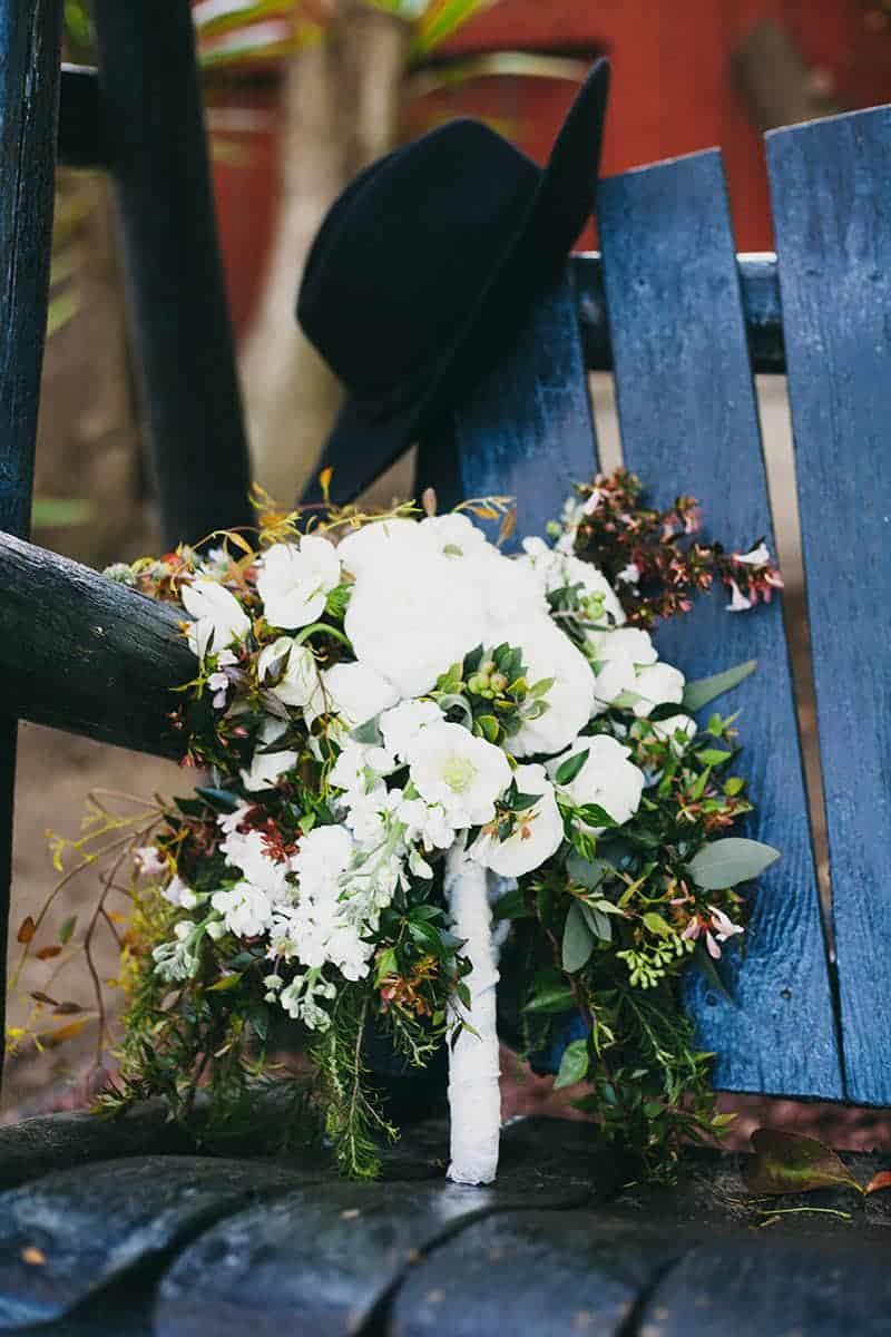 Bohemian Boho Wedding Inspiration Floppy Hat Bride Festival 18