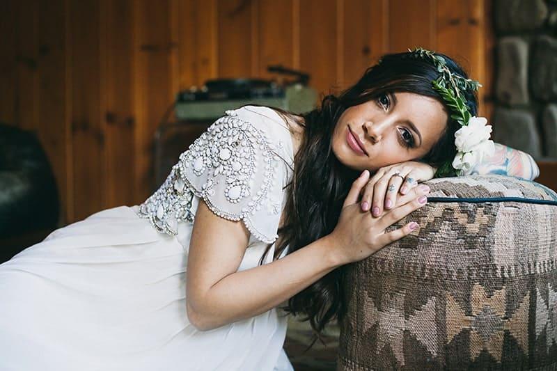 Bohemian Boho Wedding Inspiration Floppy Hat Bride Festival 3