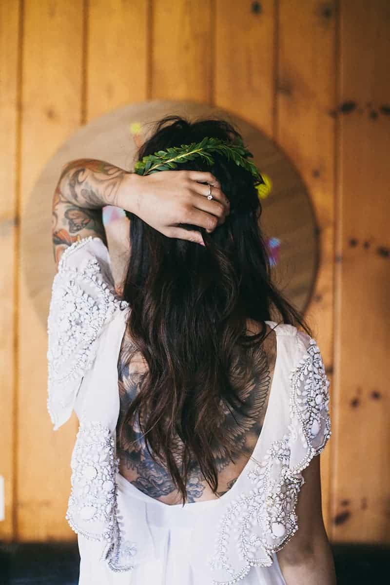 Bohemian Boho Wedding Inspiration Floppy Hat Bride Festival 5
