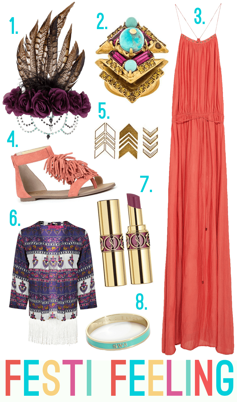 Festival Wedding Outfit with maxi dress kimono and temp tattoos2